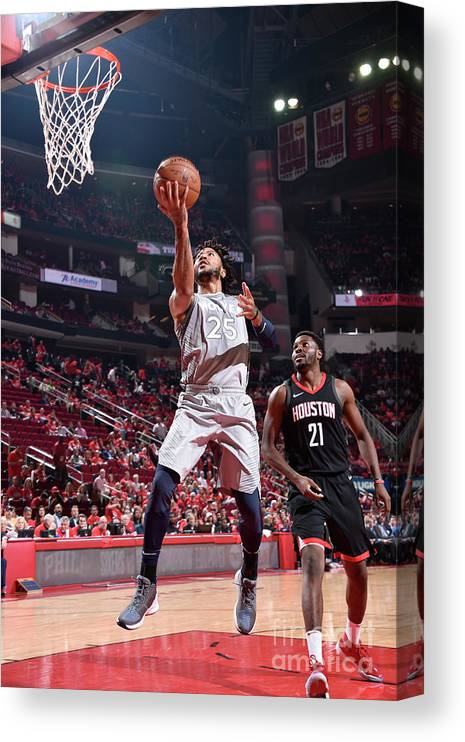 Playoffs Canvas Print featuring the photograph Derrick Rose by Bill Baptist