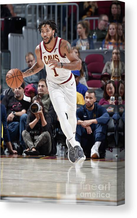 Nba Pro Basketball Canvas Print featuring the photograph Derrick Rose by David Liam Kyle