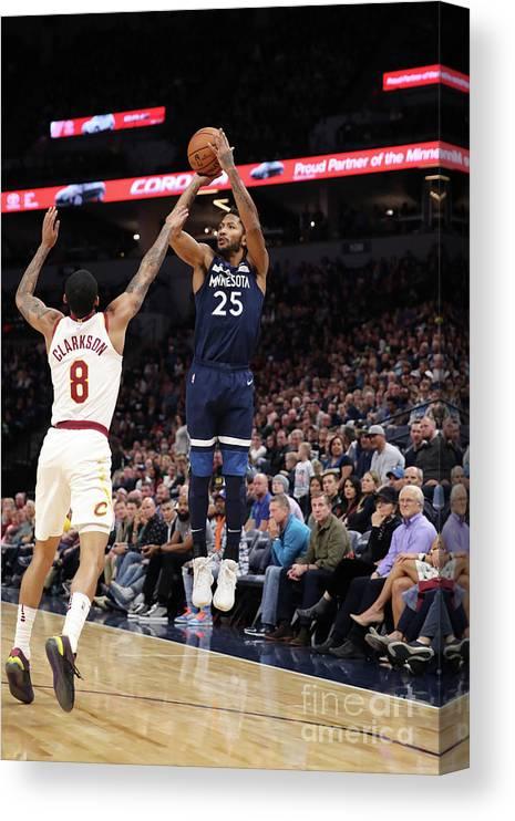 Nba Pro Basketball Canvas Print featuring the photograph Derrick Rose by Jordan Johnson