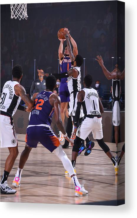 Nba Pro Basketball Canvas Print featuring the photograph Devin Booker by Bill Baptist