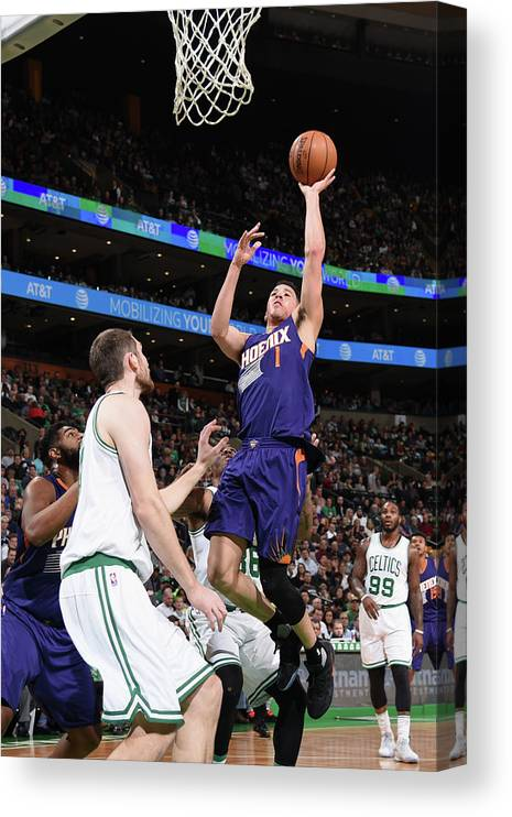 Nba Pro Basketball Canvas Print featuring the photograph Devin Booker by Brian Babineau