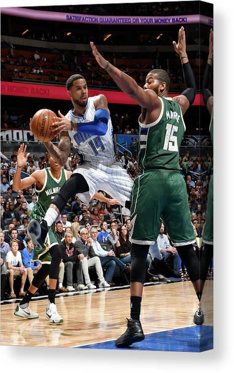 Nba Pro Basketball Canvas Print featuring the photograph D.j. Augustin by Fernando Medina