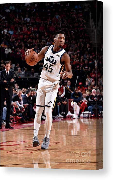 Playoffs Canvas Print featuring the photograph Donovan Mitchell by Bill Baptist