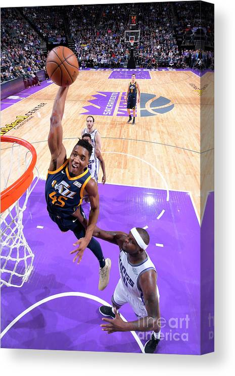 Nba Pro Basketball Canvas Print featuring the photograph Donovan Mitchell by Rocky Widner