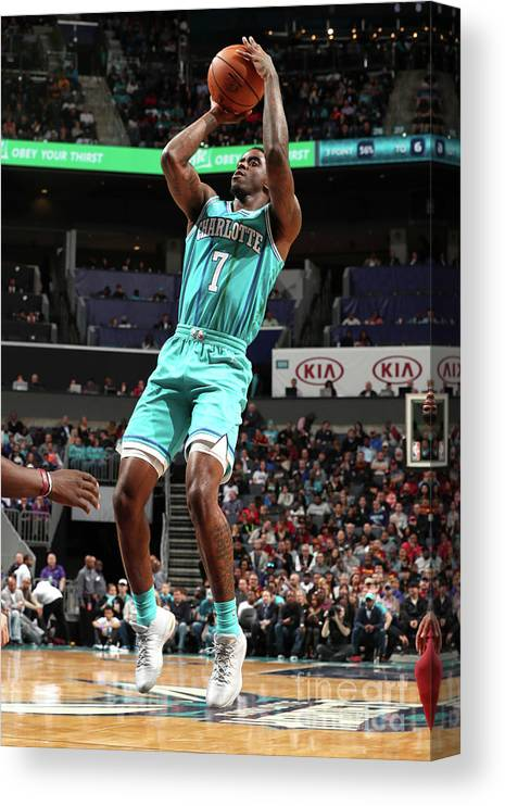 Nba Pro Basketball Canvas Print featuring the photograph Dwayne Bacon by Kent Smith