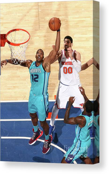 Nba Pro Basketball Canvas Print featuring the photograph Dwight Howard by Nathaniel S. Butler