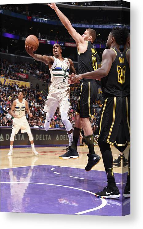 Nba Pro Basketball Canvas Print featuring the photograph Eric Bledsoe by Andrew D. Bernstein