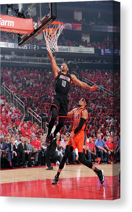 Playoffs Canvas Print featuring the photograph Eric Gordon by Bill Baptist