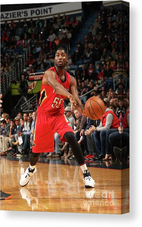 Smoothie King Center Canvas Print featuring the photograph E'twaun Moore by Layne Murdoch
