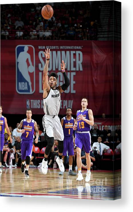 Nba Pro Basketball Canvas Print featuring the photograph Frank Mason by Garrett Ellwood
