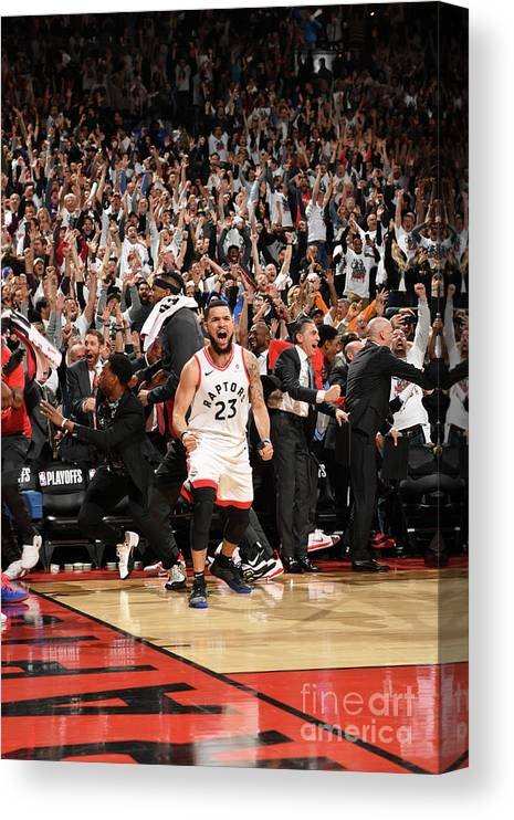 Playoffs Canvas Print featuring the photograph Fred Vanvleet by Ron Turenne