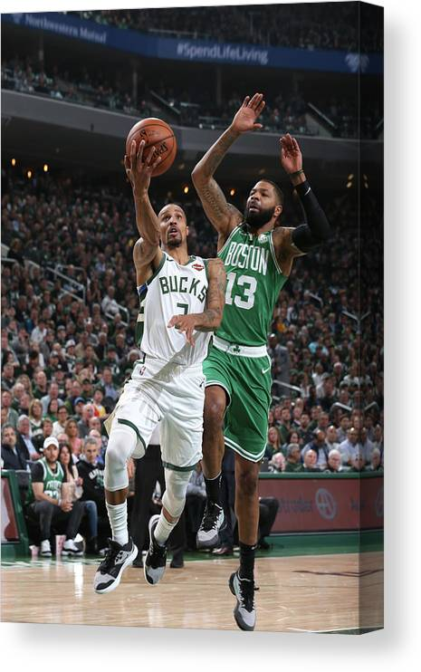 Playoffs Canvas Print featuring the photograph George Hill by Gary Dineen