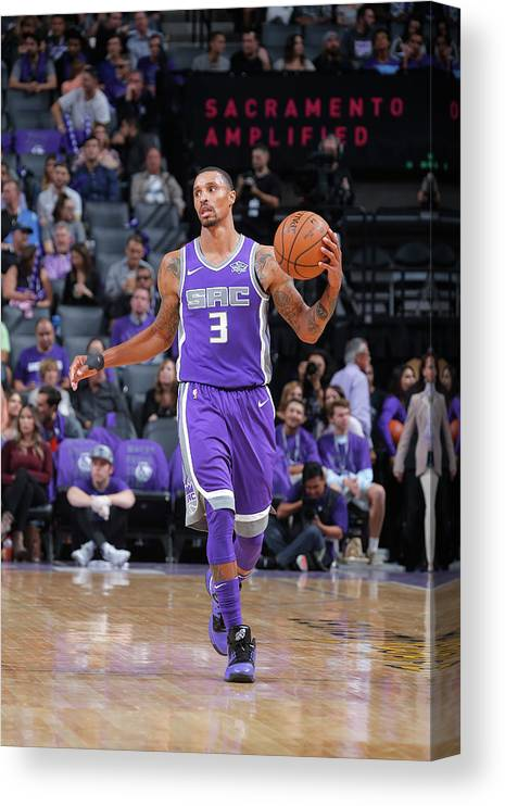 Nba Pro Basketball Canvas Print featuring the photograph George Hill by Rocky Widner