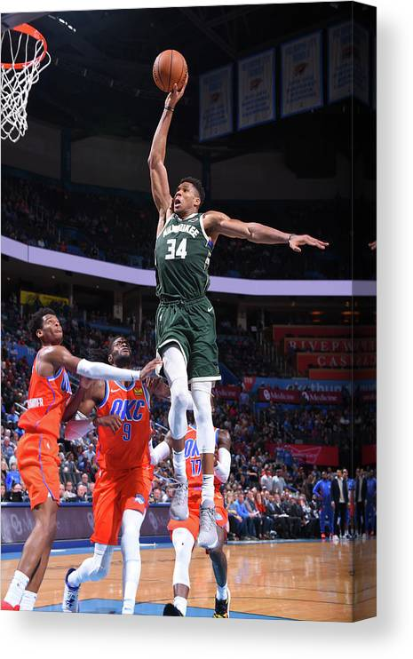 Nba Pro Basketball Canvas Print featuring the photograph Giannis Antetokounmpo by Bill Baptist