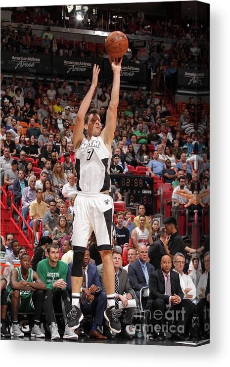 Nba Pro Basketball Canvas Print featuring the photograph Goran Dragic by Oscar Baldizon