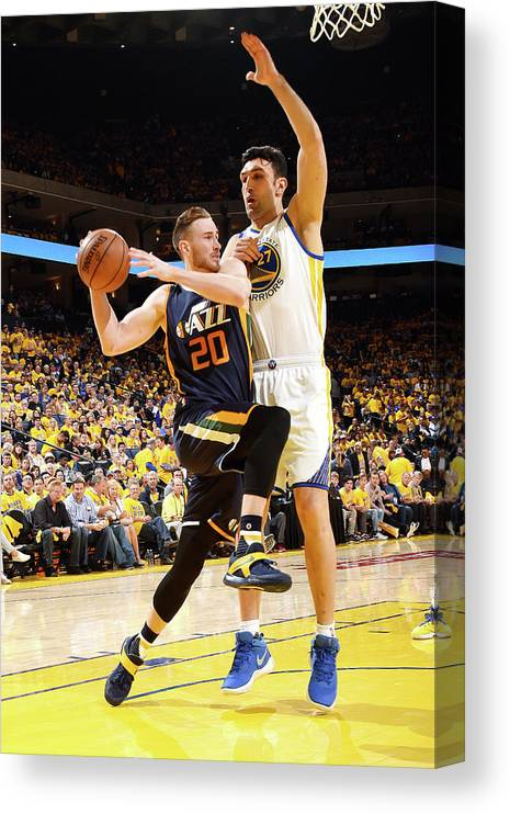 Playoffs Canvas Print featuring the photograph Gordon Hayward by Andrew D. Bernstein