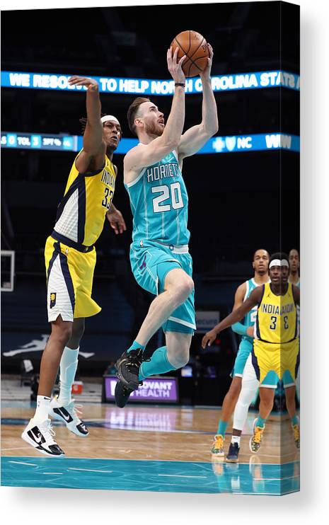 Nba Pro Basketball Canvas Print featuring the photograph Gordon Hayward by Brock Williams-Smith
