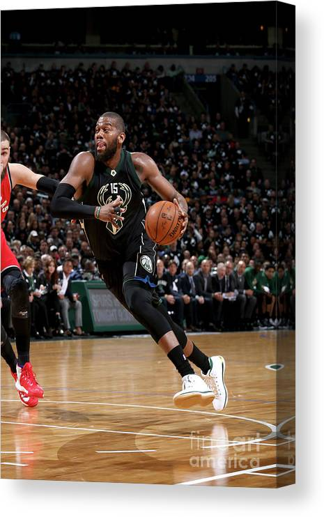Playoffs Canvas Print featuring the photograph Greg Monroe by Gary Dineen