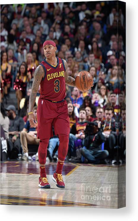 Nba Pro Basketball Canvas Print featuring the photograph Isaiah Thomas by David Liam Kyle