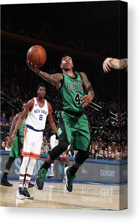 Nba Pro Basketball Canvas Print featuring the photograph Isaiah Thomas by Nathaniel S. Butler