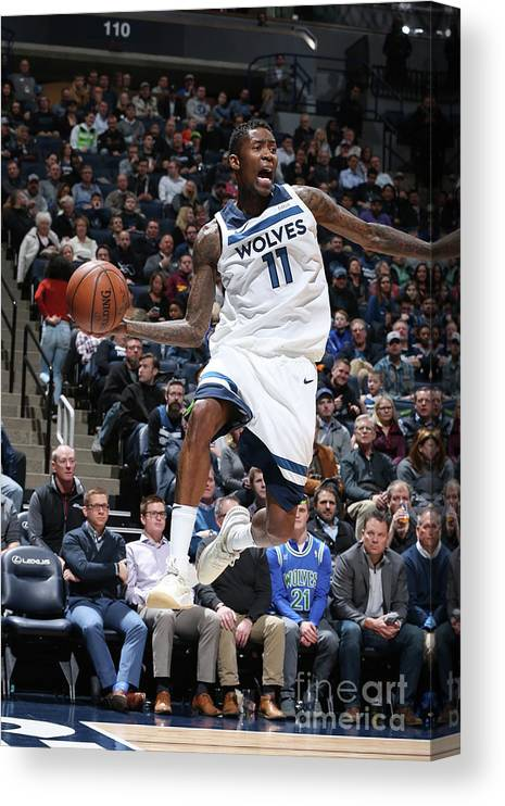Sports Ball Canvas Print featuring the photograph Jamal Crawford by David Sherman