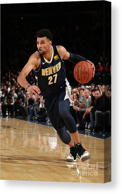 Nba Pro Basketball Canvas Print featuring the photograph Jamal Murray by Nathaniel S. Butler
