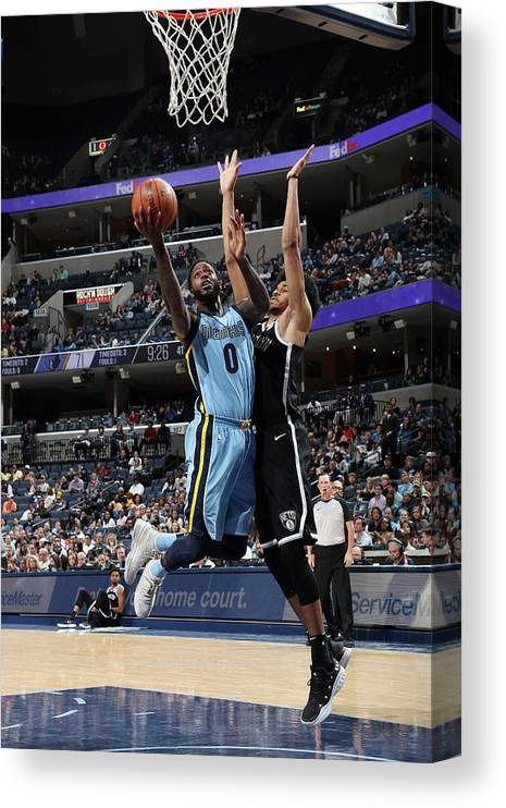 Nba Pro Basketball Canvas Print featuring the photograph Jamychal Green by Joe Murphy