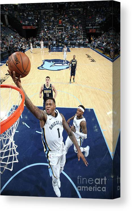 Nba Pro Basketball Canvas Print featuring the photograph Jarell Martin by Joe Murphy