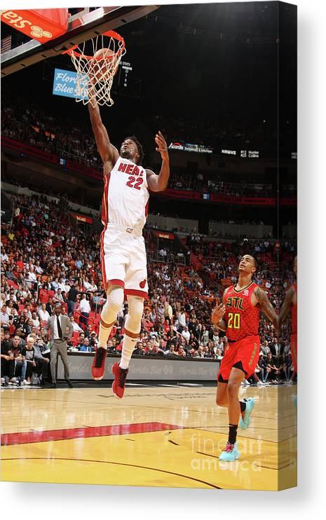 Nba Pro Basketball Canvas Print featuring the photograph Jimmy Butler by Oscar Baldizon