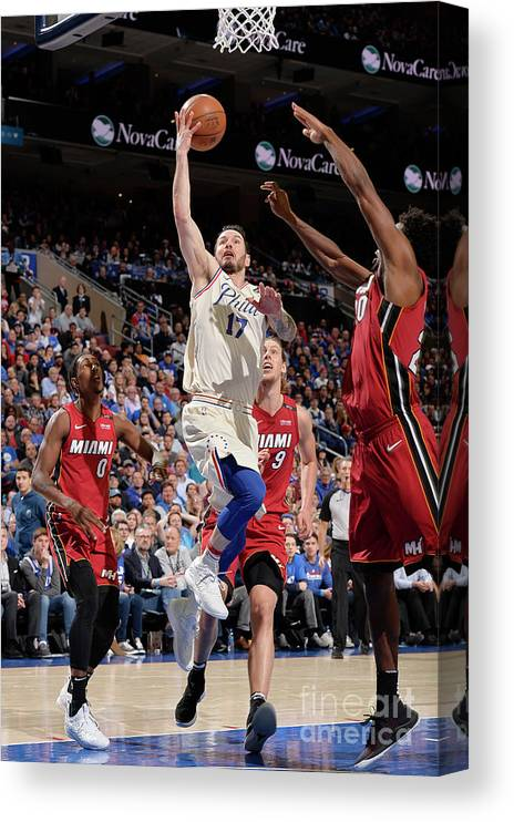 Playoffs Canvas Print featuring the photograph J.j. Redick by David Dow