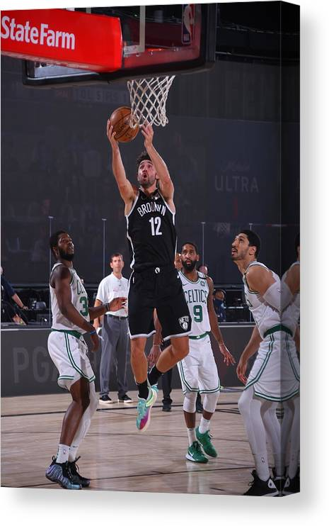 Nba Pro Basketball Canvas Print featuring the photograph Joe Harris by Bill Baptist