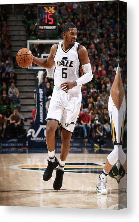 Nba Pro Basketball Canvas Print featuring the photograph Joe Johnson by Garrett Ellwood