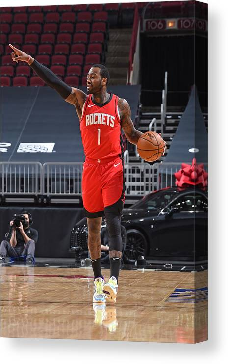 Nba Pro Basketball Canvas Print featuring the photograph John Wall by Randy Belice