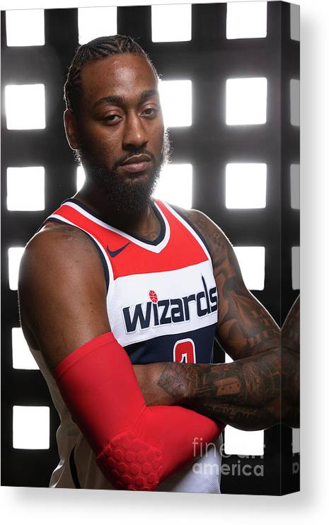 Media Day Canvas Print featuring the photograph John Wall by Stephen Gosling