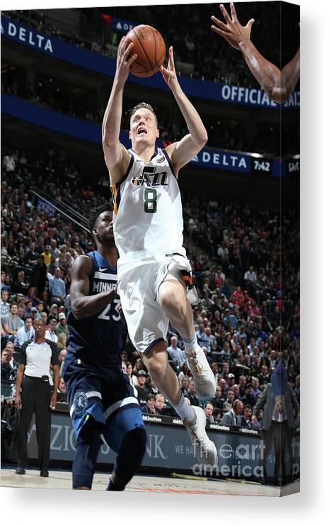 Nba Pro Basketball Canvas Print featuring the photograph Jonas Jerebko by Melissa Majchrzak