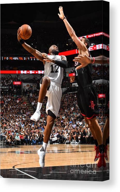 Playoffs Canvas Print featuring the photograph Jonathon Simmons by Jesse D. Garrabrant