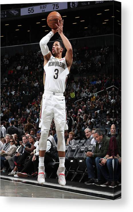 Nba Pro Basketball Canvas Print featuring the photograph Josh Hart by Nathaniel S. Butler