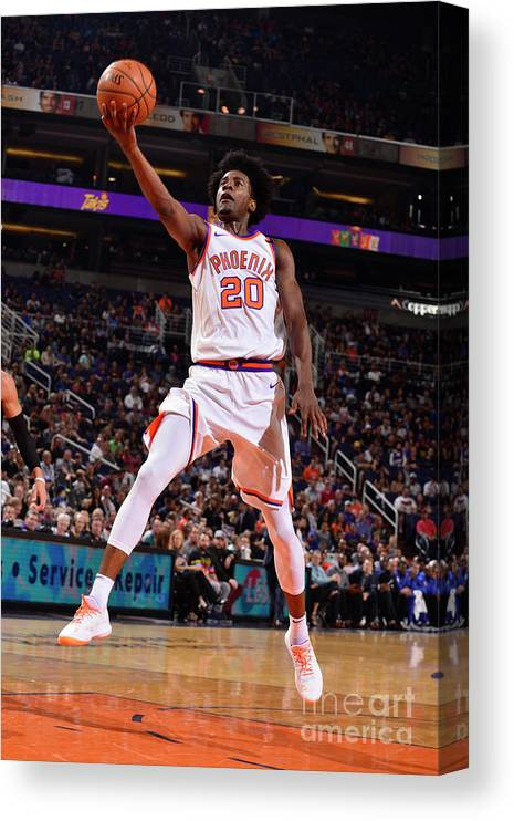 Nba Pro Basketball Canvas Print featuring the photograph Josh Jackson by Barry Gossage