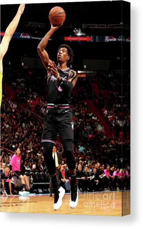 Nba Pro Basketball Canvas Print featuring the photograph Josh Richardson by Oscar Baldizon