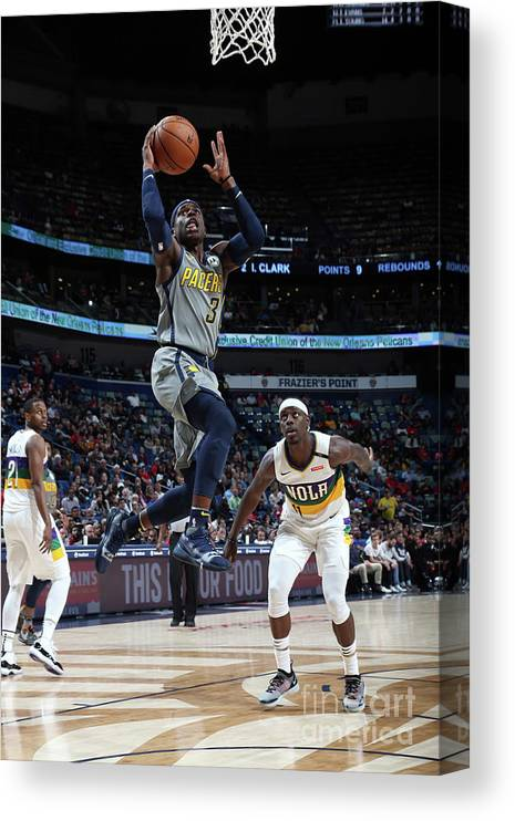Smoothie King Center Canvas Print featuring the photograph Jrue Holiday by Layne Murdoch Jr.