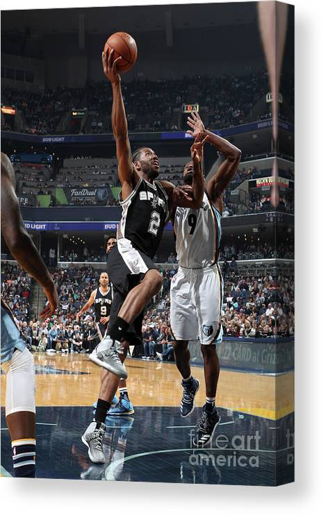 Nba Pro Basketball Canvas Print featuring the photograph Kawhi Leonard by Joe Murphy