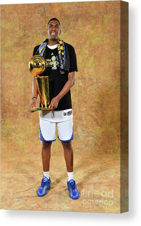 Playoffs Canvas Print featuring the photograph Kevon Looney by Jesse D. Garrabrant