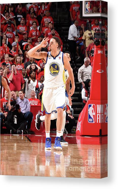 Playoffs Canvas Print featuring the photograph Klay Thompson by Andrew D. Bernstein