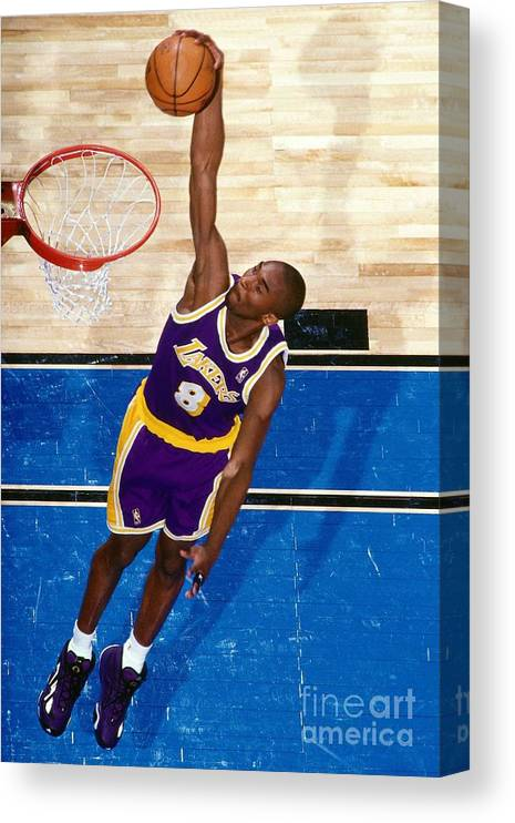 Nba Pro Basketball Canvas Print featuring the photograph Kobe Bryant by Nathaniel S. Butler