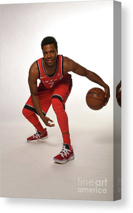 Media Day Canvas Print featuring the photograph Kyle Lowry by Ron Turenne