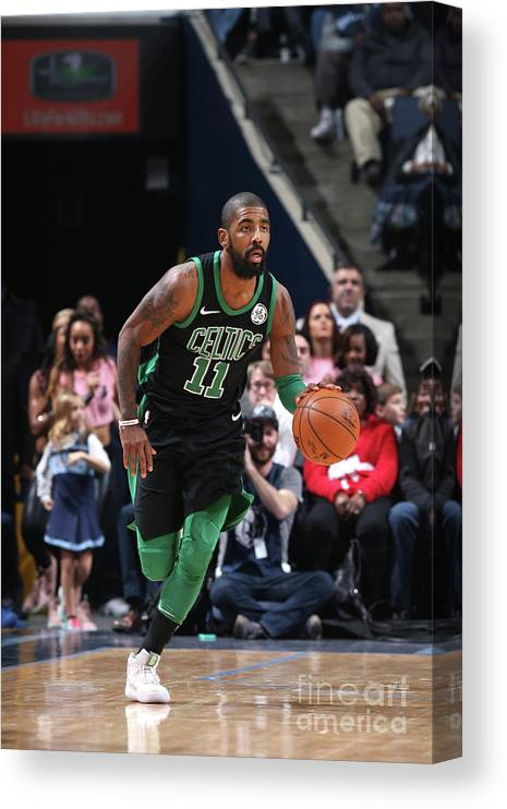 Nba Pro Basketball Canvas Print featuring the photograph Kyrie Irving by Joe Murphy
