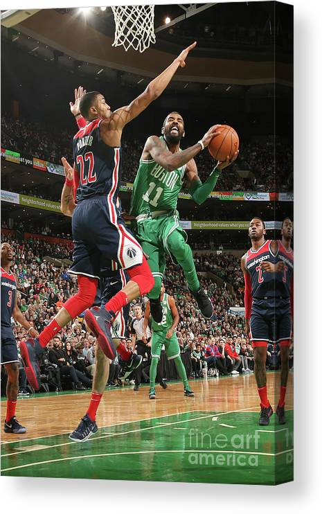 Nba Pro Basketball Canvas Print featuring the photograph Kyrie Irving by Ned Dishman