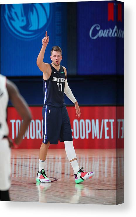 Playoffs Canvas Print featuring the photograph LA Clippers v Dallas Mavericks - Game Four by Joe Murphy