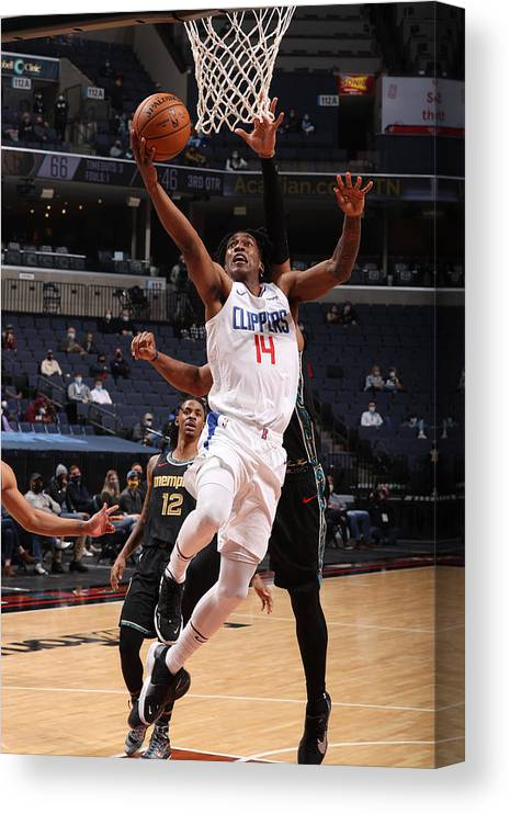 Nba Pro Basketball Canvas Print featuring the photograph LA Clippers v Memphis Grizzlies by Joe Murphy