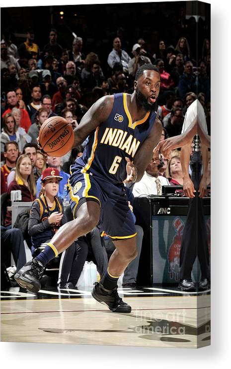 Nba Pro Basketball Canvas Print featuring the photograph Lance Stephenson by David Liam Kyle